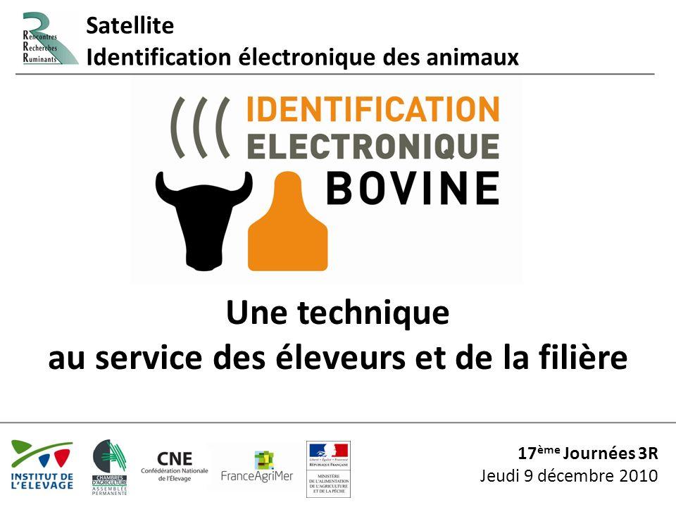 3R 2010 – identification électronique3 Satellite Identification électronique des bovins Programme 1Introduction S.