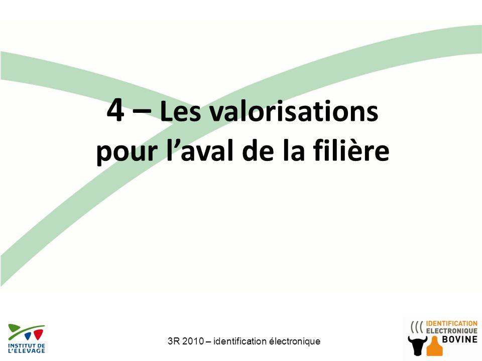 3R 2010 – identification électronique 25 4 – Les valorisations pour laval de la filière