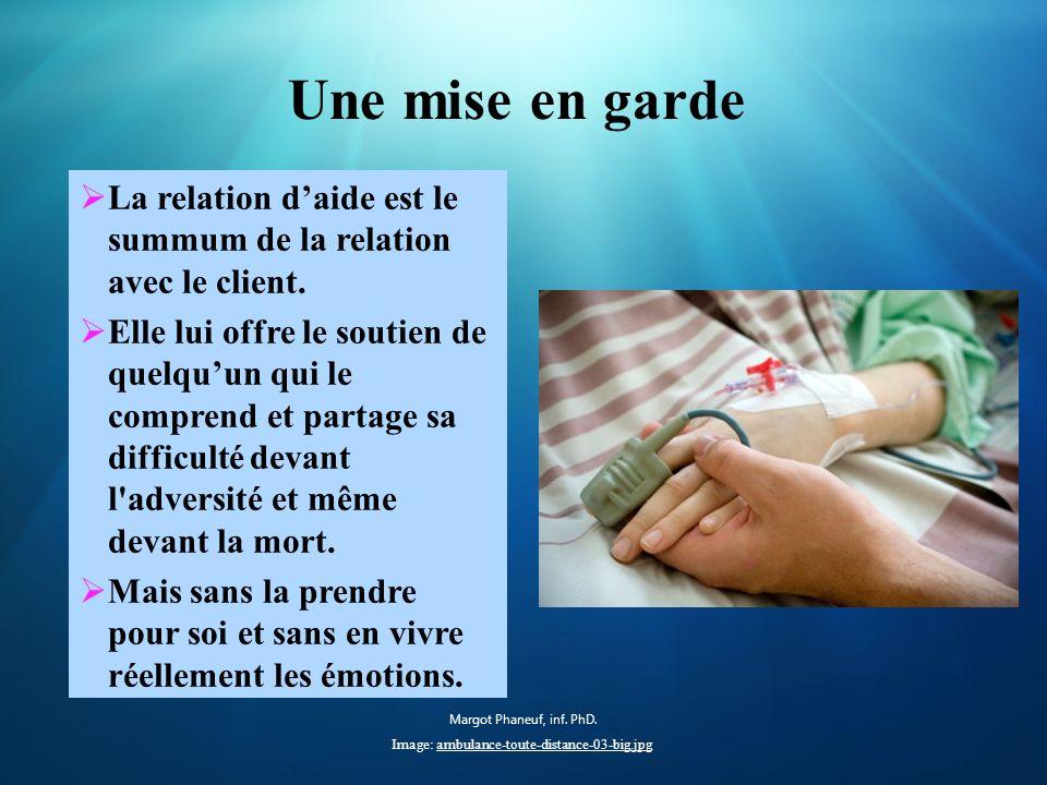 Une mise en garde La relation daide est le summum de la relation avec le client.