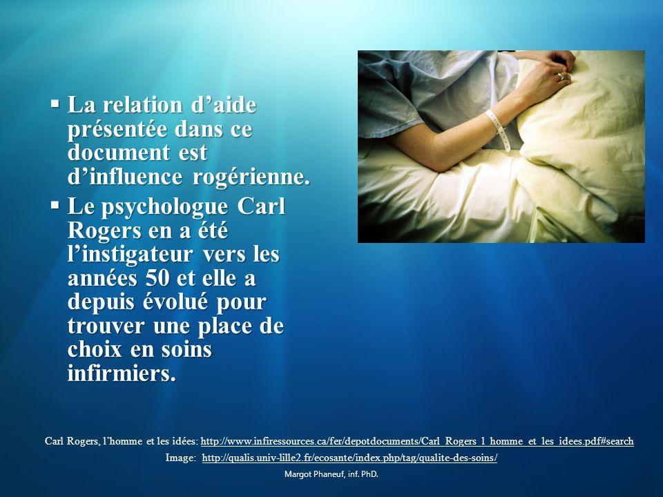 La relation daide et lutilisation thérapeutique de soi Image: http://www.inetgiant.fr/addetails/infirmier-infirmiere-de-soins-generaux/3762162http://www.inetgiant.fr/addetails/infirmier-infirmiere-de-soins-generaux/3762162 Margot Phaneuf, inf.