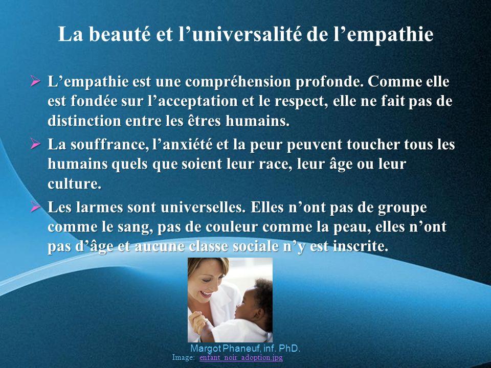 La beauté et luniversalité de lempathie Lempathie est une compréhension profonde.