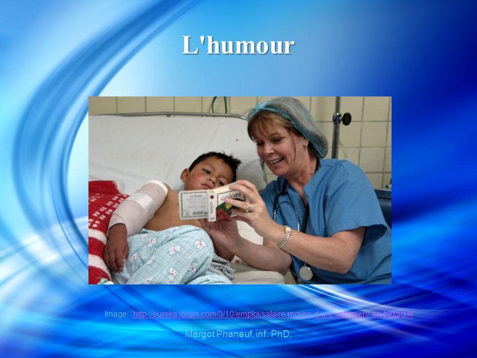 L humour Image: http://eureka.ibigin.com/3/10/emploi/salaire-moyen-d-une-infirmiere-en-belgiquehttp://eureka.ibigin.com/3/10/emploi/salaire-moyen-d-une-infirmiere-en-belgique Margot Phaneuf, inf.