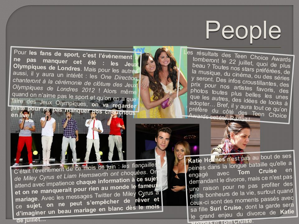 Les résultats des Teen Choice Awards tomberont le 22 juillet, quoi de plus beau .