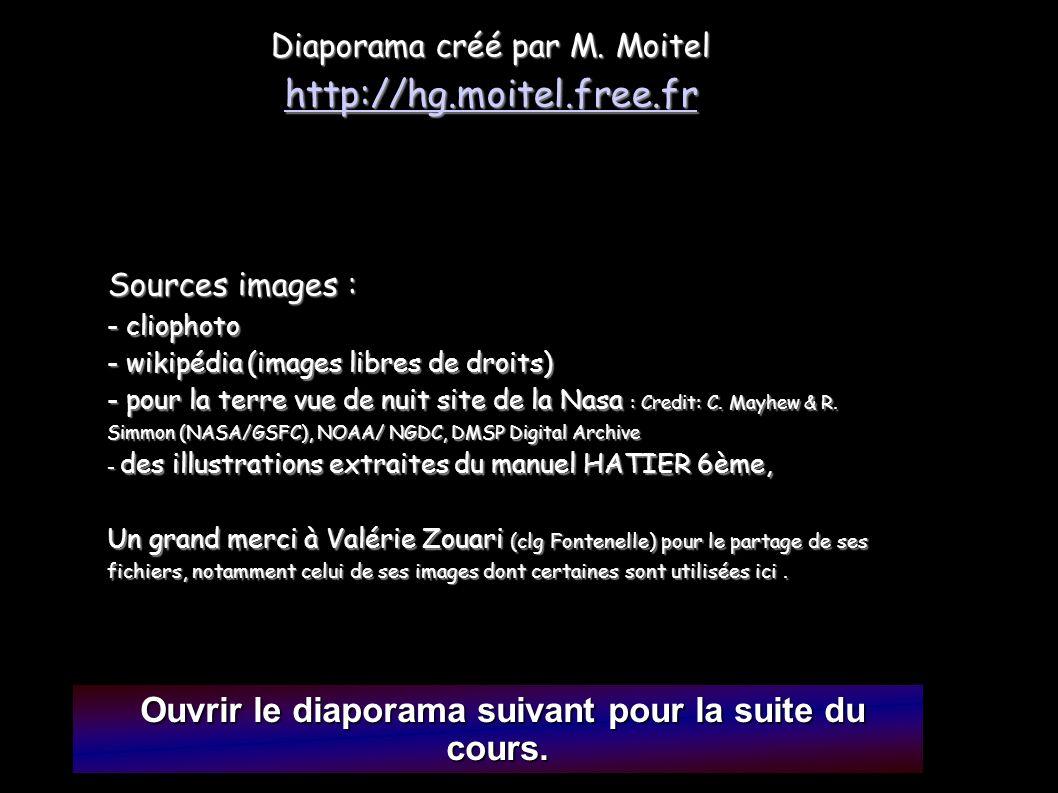 Ouvrir le diaporama suivant pour la suite du cours. Ouvrir le diaporama suivant pour la suite du cours. Diaporama créé par M. Moitel http://hg.moitel.