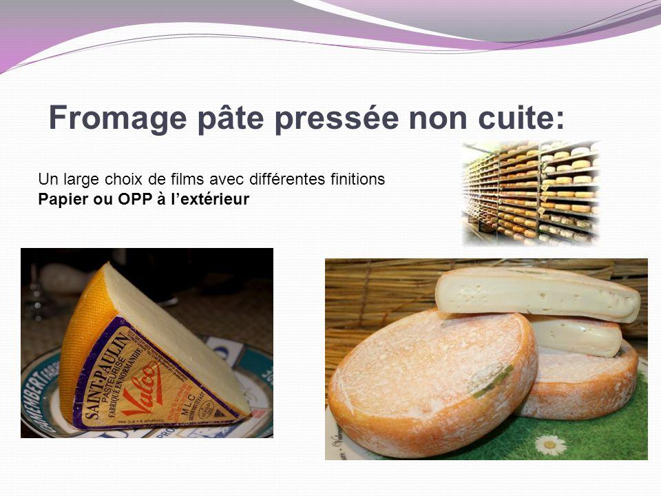Fromage pâte pressée non cuite: Un large choix de films avec différentes finitions Papier ou OPP à lextérieur