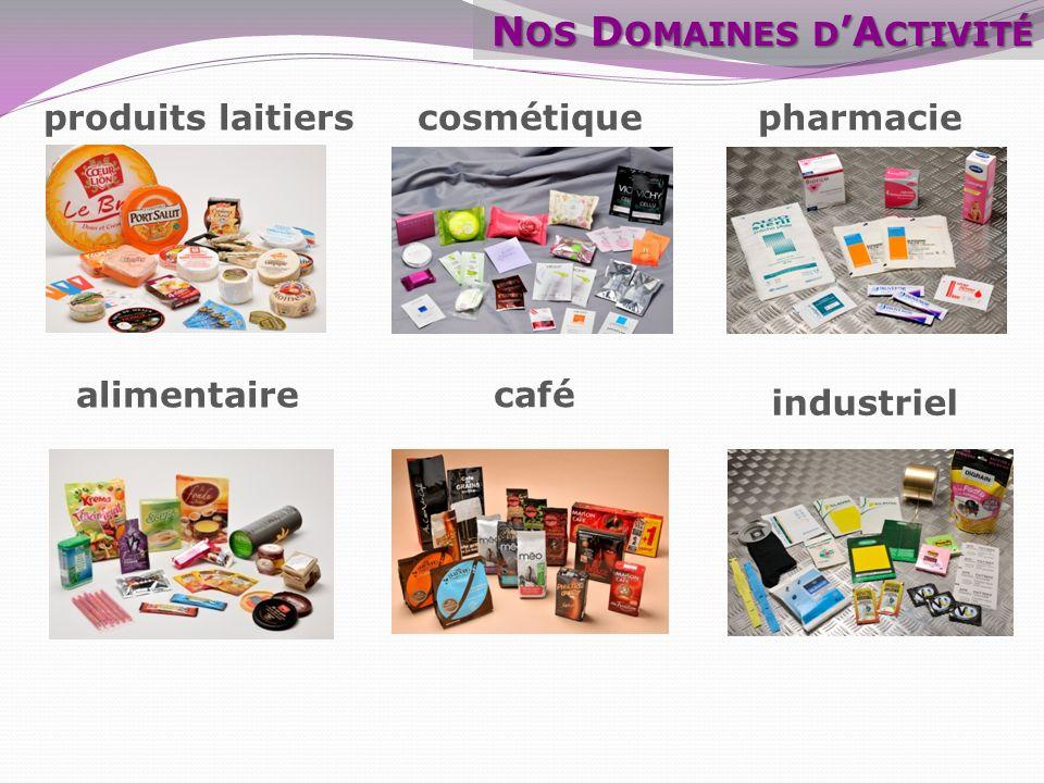 alimentaire pharmacie industriel produits laitiers cosmétique N OS D OMAINES D A CTIVITÉ café
