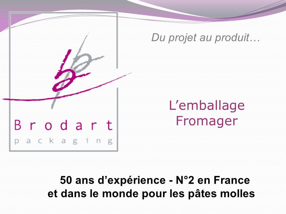 Lemballage Fromager Du projet au produit… 50 ans dexpérience - N°2 en France et dans le monde pour les pâtes molles