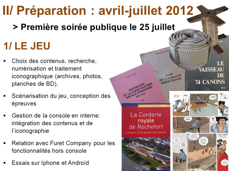 II/ Préparation : avril-juillet 2012 > Première soirée publique le 25 juillet 1/ LE JEU Choix des contenus, recherche, numérisation et traitement icon