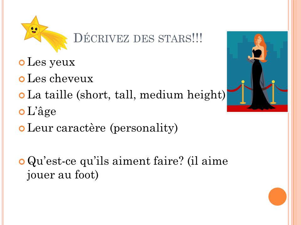 D ÉCRIVEZ DES STARS !!.