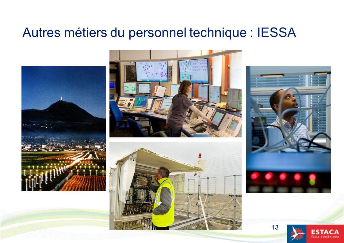 13 Autres métiers du personnel technique : IESSA