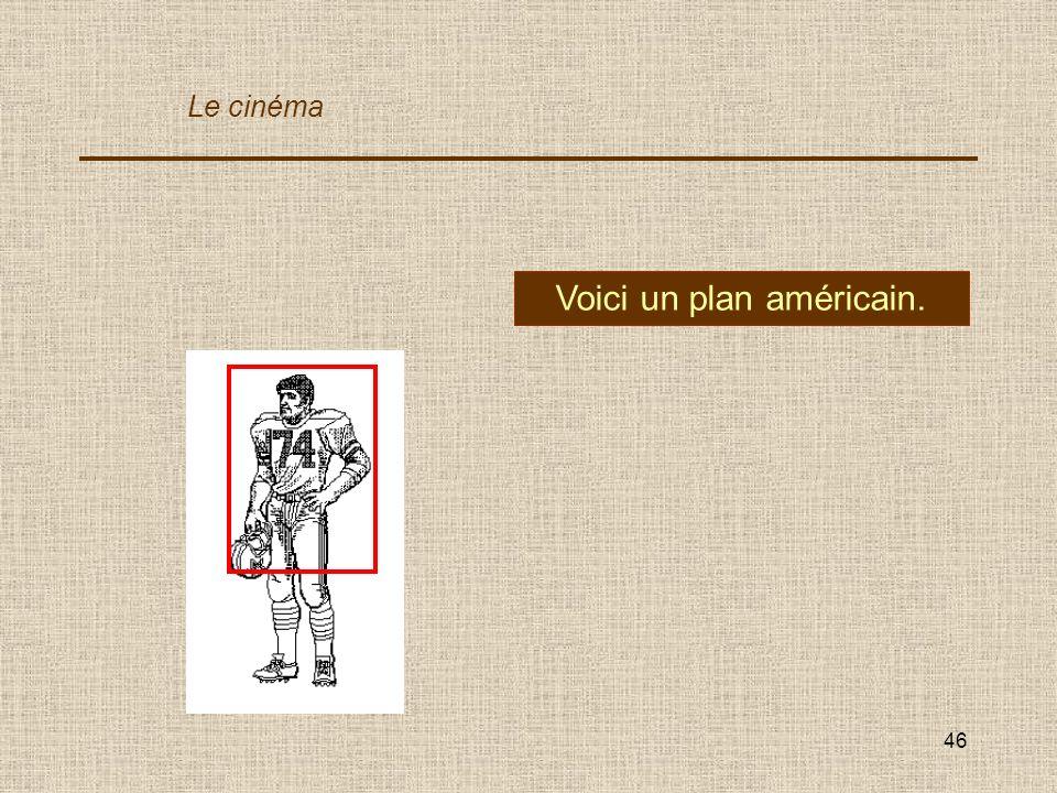 46 Voici un plan américain. Le cinéma
