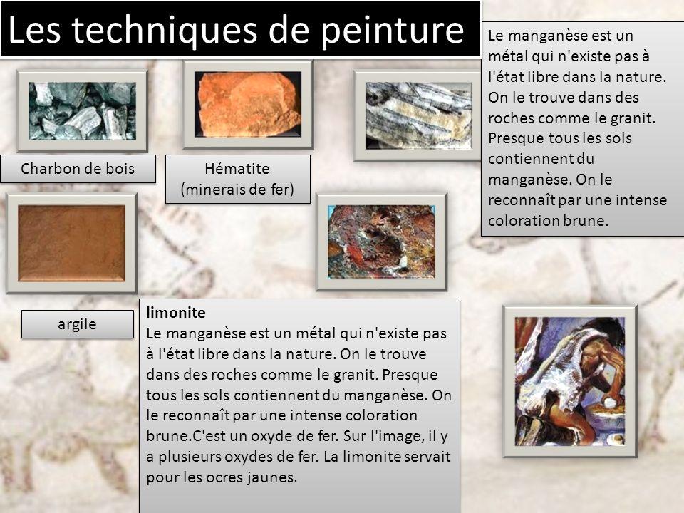 Charbon de bois Hématite (minerais de fer) argile Le manganèse est un métal qui n'existe pas à l'état libre dans la nature. On le trouve dans des roch