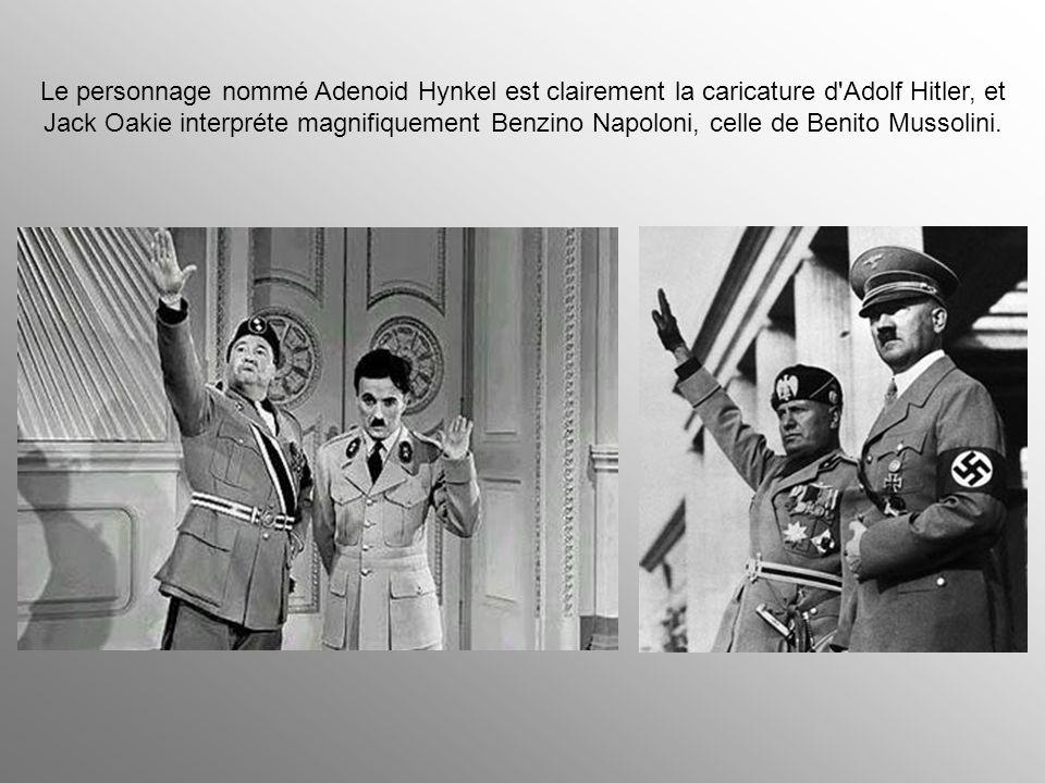Chaplin joue deux rôles : le dictateur le barbier juif et