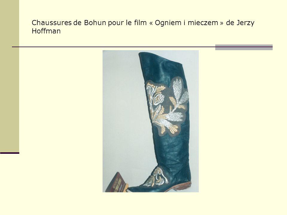 Chaussures de Bohun pour le film « Ogniem i mieczem » de Jerzy Hoffman