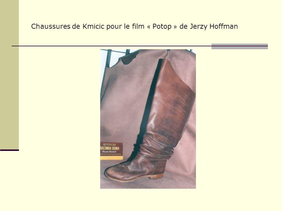 Chaussures de Kmicic pour le film « Potop » de Jerzy Hoffman