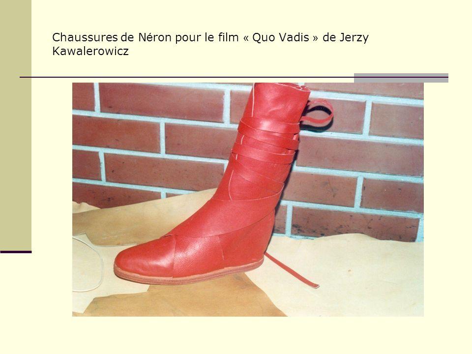 Chaussures de N é ron pour le film « Quo Vadis » de Jerzy Kawalerowicz