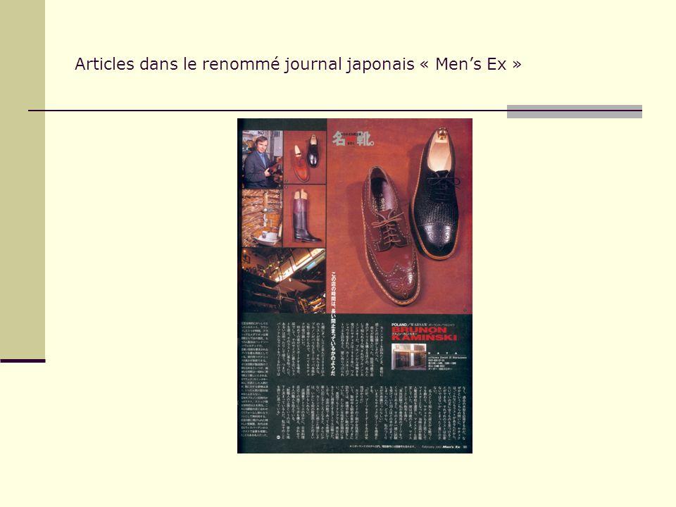 Articles dans le renommé journal japonais « Mens Ex »