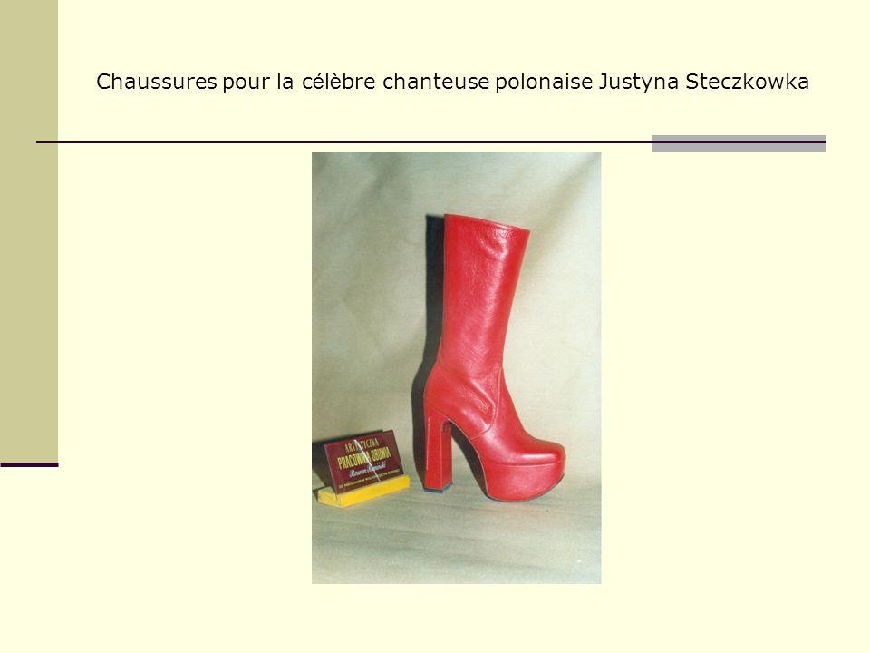 Chaussures pour la c é l è bre chanteuse polonaise Justyna Steczkowka