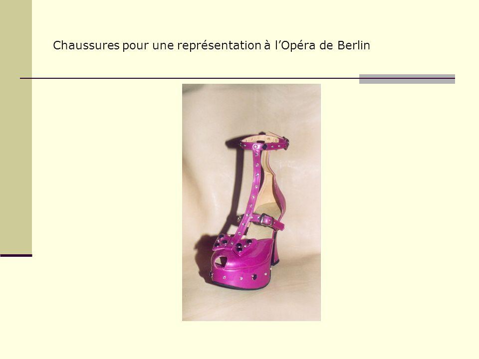 Chaussures pour une représentation à lOpéra de Berlin