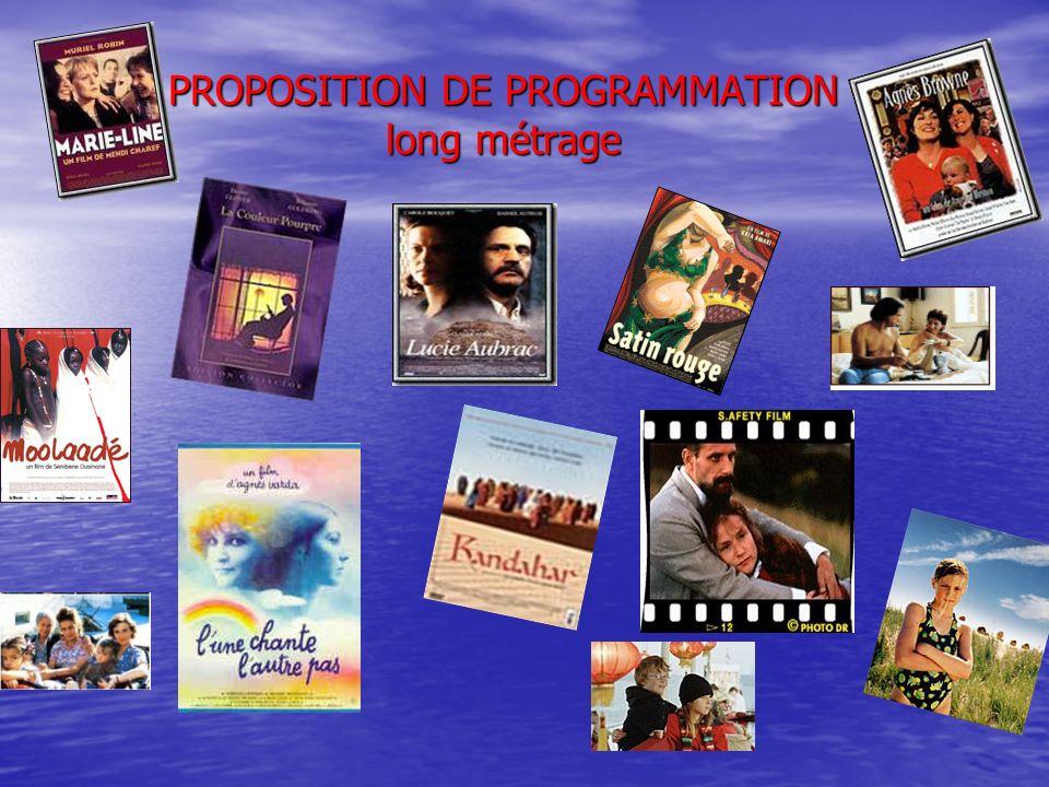 PROPOSITION DE PROGRAMMATION long métrage