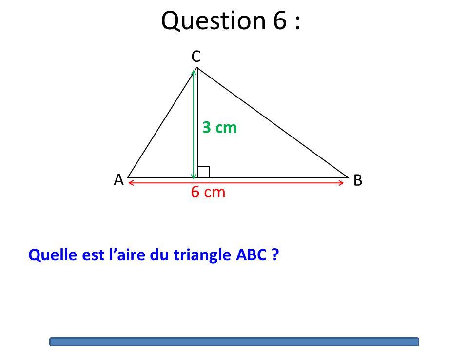 Question 5 : Voici les étapes dun programme de construction : 1)Tracer un losange ABCD. 2)Tracer le cercle de centre A qui passe par D. Quel est le nu