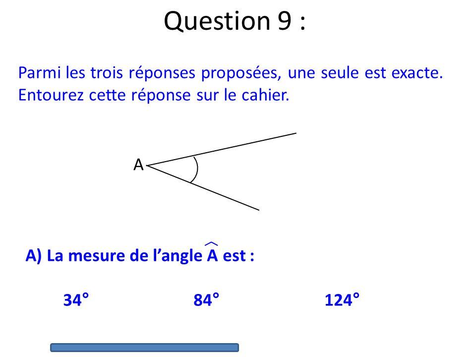 Question 8 : Voici un plan du jardin de Lucie : 6 m 3 m Quel est le périmètre de ce jardin ?