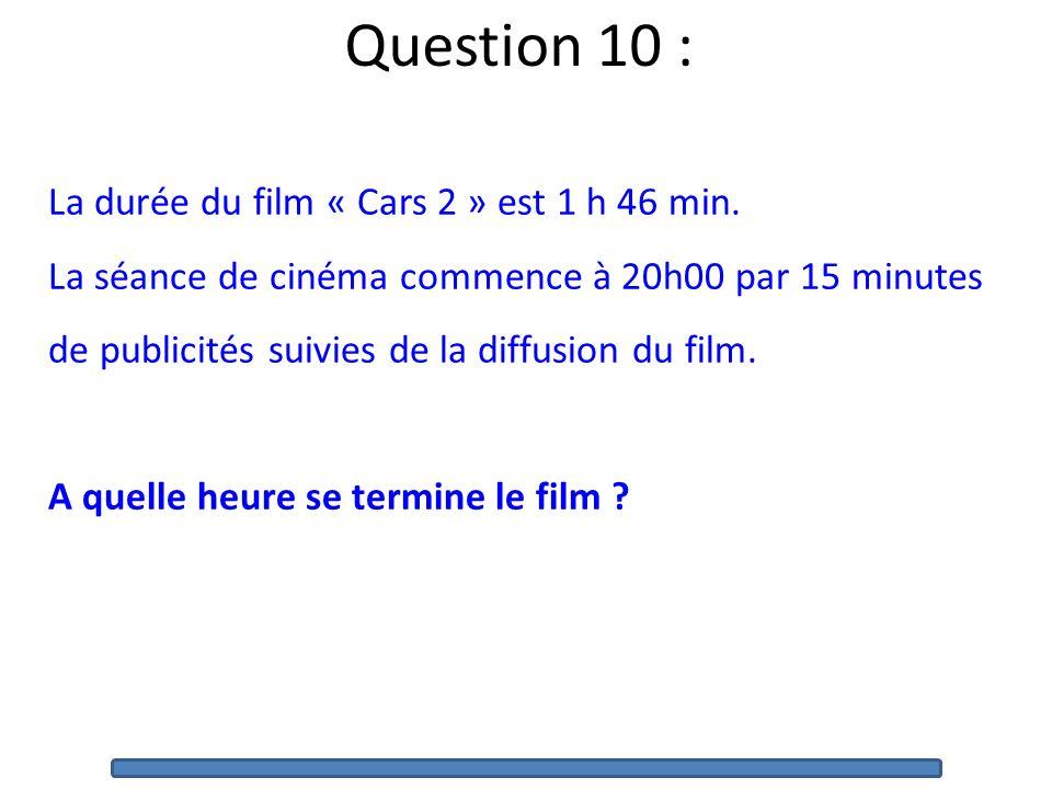 Question 9 : Parmi les trois réponses proposées, une seule est exacte. Entourez cette réponse sur le cahier. B B) La mesure de langle B est : 60°120°1