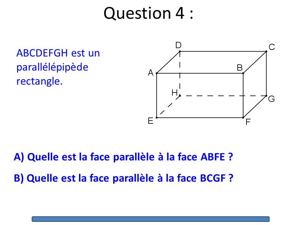 ABCDEFGH est un parallélépipède rectangle.