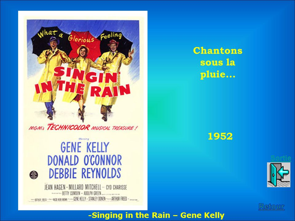 1952 Chantons sous la pluie... -Singing in the Rain – Gene Kelly Sortie