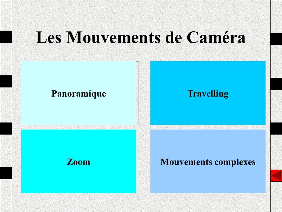 Les Mouvements de Caméra PanoramiqueTravelling ZoomMouvements complexes