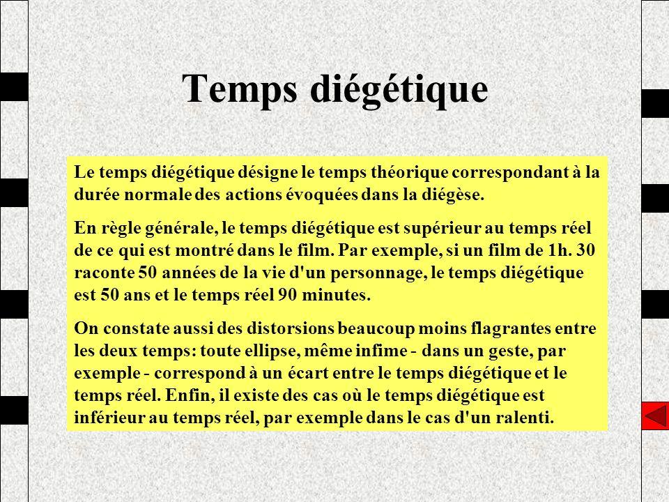 Temps diégétique Le temps diégétique désigne le temps théorique correspondant à la durée normale des actions évoquées dans la diégèse. En règle généra