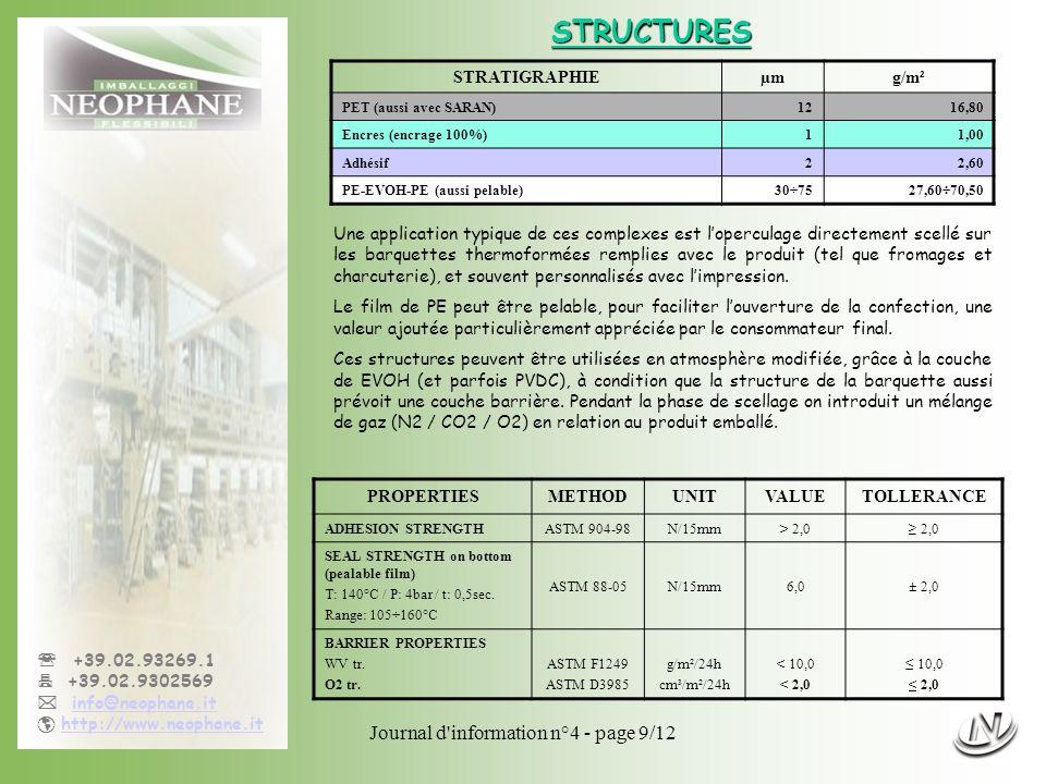 Journal d'information n°4 - page 9/12 +39.02.93269.1 +39.02.9302569 info@neophane.it http://www.neophane.it Une application typique de ces complexes e