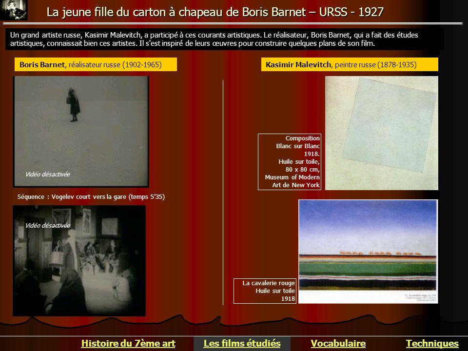 La jeune fille du carton à chapeau de Boris Barnet – URSS - 1927 Histoire du 7ème art Histoire du 7ème art Vocabulaire Les films étudiés Les films étu