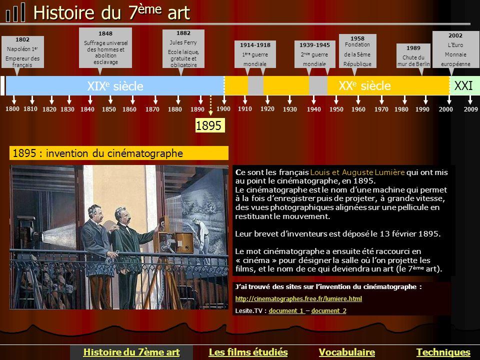 Histoire du 7 ème art La première séance publique payante de Cinématographe a été organisée le 28 décembre 1895 au Salon indien du Grand Café, à Paris.