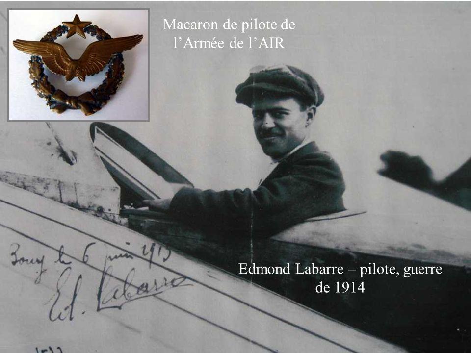 Edmond Labarre – pilote, guerre de 1914 Macaron de pilote de lArmée de lAIR