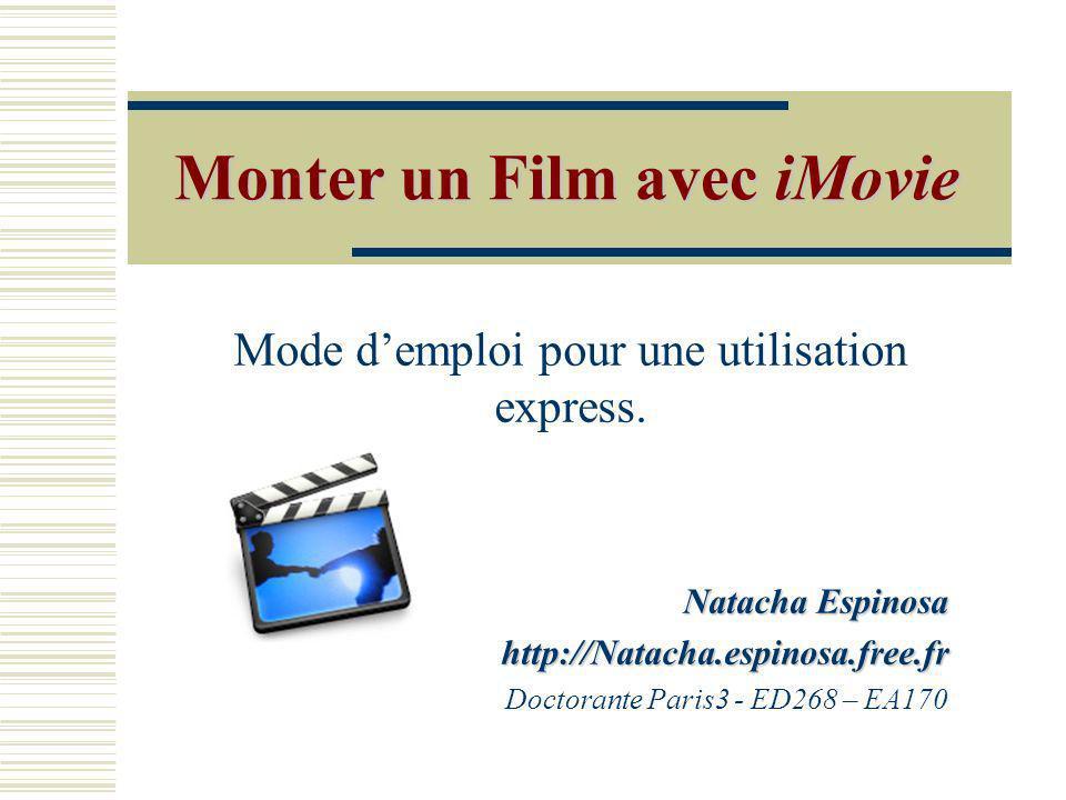 iMovie Cest un logiciel qui appartient au groupe iLife, pré installé sur Mac OS X Le pack coûte 49Euros