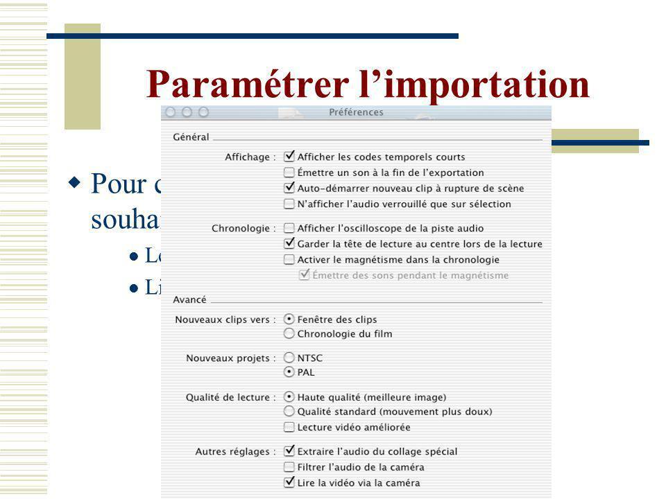 iMovie à Bièvre Le logiciel est à votre disposition sur le Mac de la Salle de Bièvre 1 rue de censier, 3ème étage Heures douverture et informations sur le site de lEcole Doctorale http://www.univ-cavi.paris3.fr/ilpga/ed Une permanence est assurée le vendredi de 12h à 15h jusquau 4 février pour le montage vidéo avec Natacha Espinosa Merci de prendre contact : espinosanatacha@aol.comespinosanatacha@aol.com