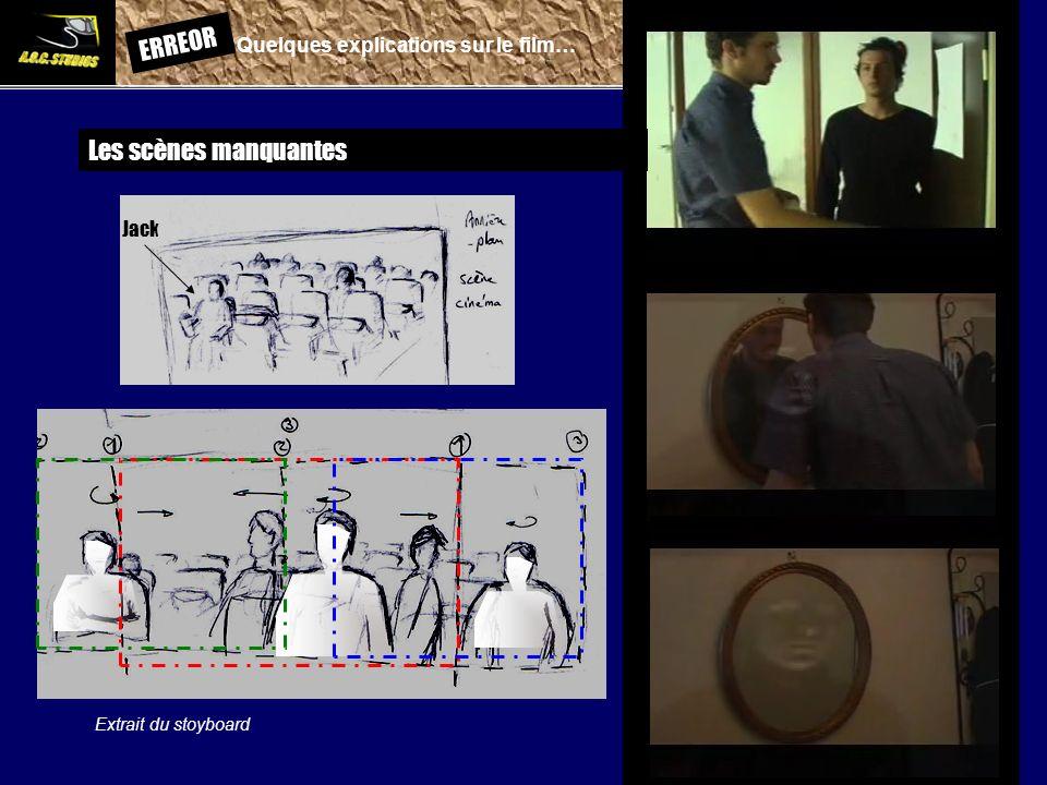 ERREOR: Quelques explications sur le film… Les scènes manquantes Jack Extrait du stoyboard