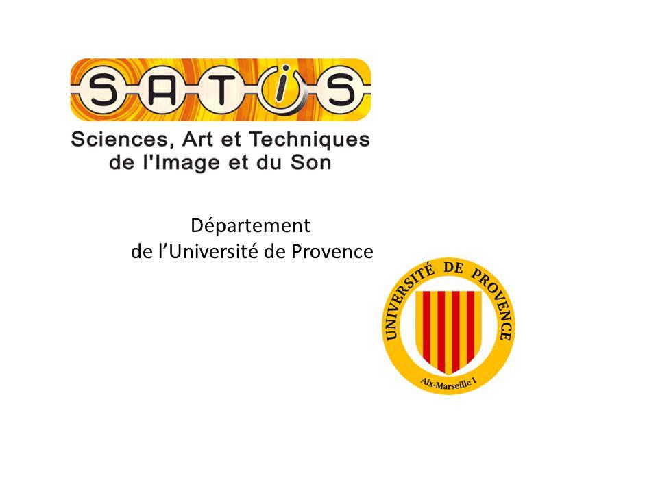 Département de lUniversité de Provence