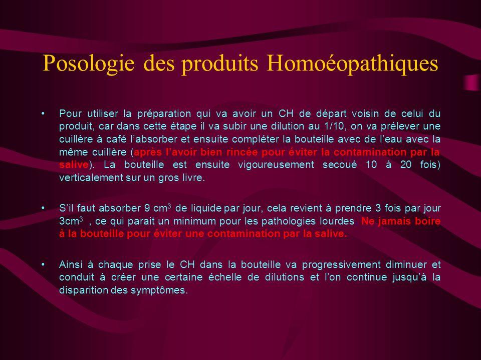 Posologie des produits Homoéopathiques La méthode développée par le Dr André Guerin combine la solution du volume pour les pathologies lourdes et résout en même temps le problème du niveau de dilution.