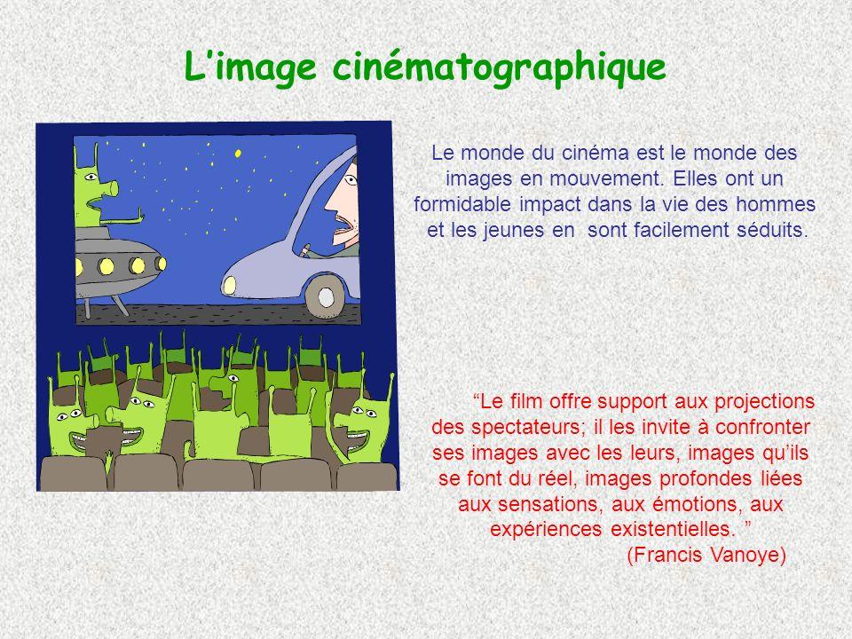 Limage cinématographique Le monde du cinéma est le monde des images en mouvement.