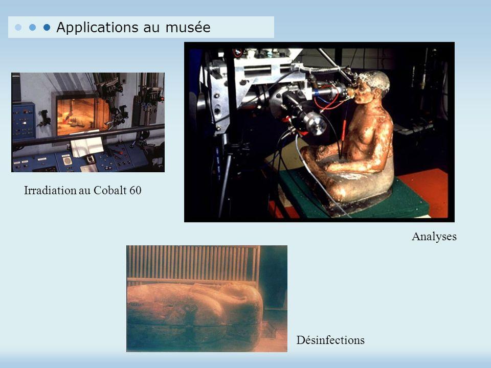 Applications au musée Irradiation au Cobalt 60 Analyses Désinfections