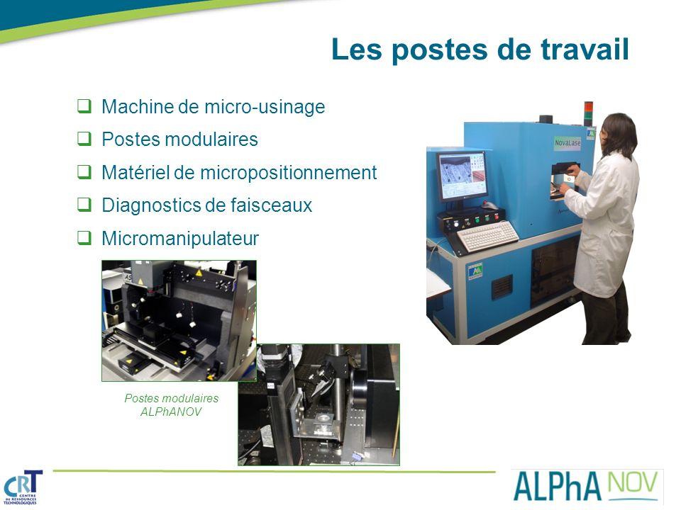 Les postes de travail Machine de micro-usinage Postes modulaires Matériel de micropositionnement Diagnostics de faisceaux Micromanipulateur Postes mod