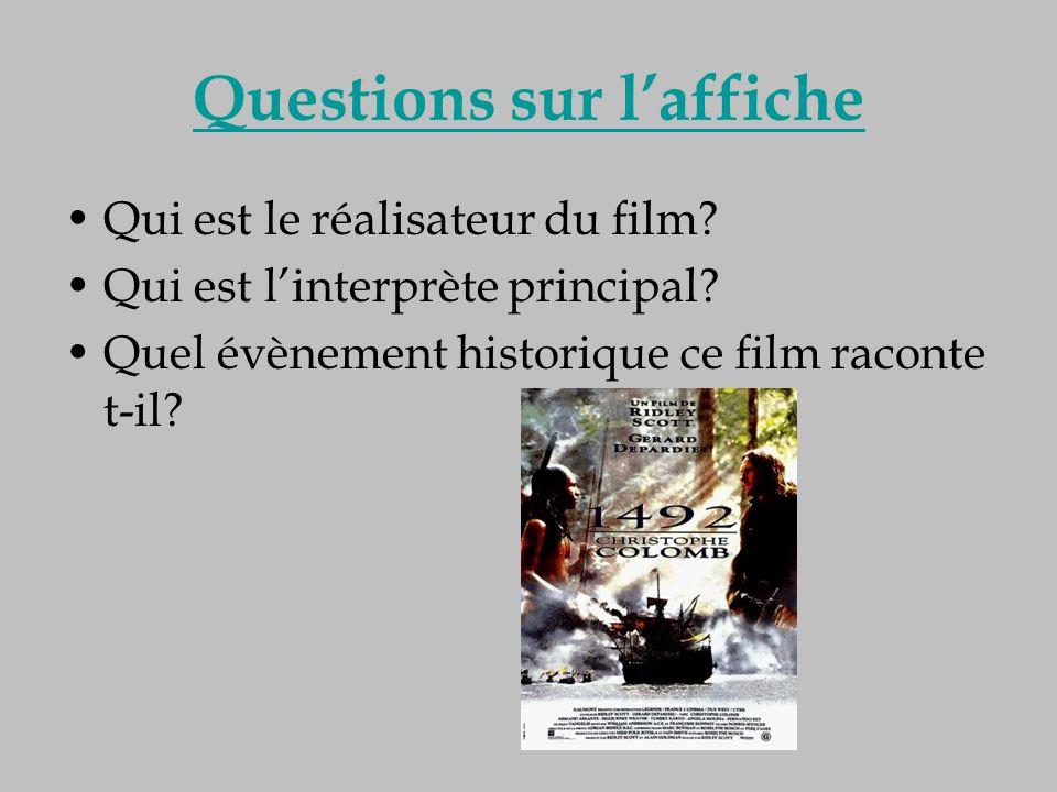 Questions sur laffiche Qui est le réalisateur du film? Qui est linterprète principal? Quel évènement historique ce film raconte t-il?