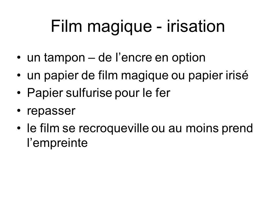 Film magique - irisation un tampon – de lencre en option un papier de film magique ou papier irisé Papier sulfurise pour le fer repasser le film se re