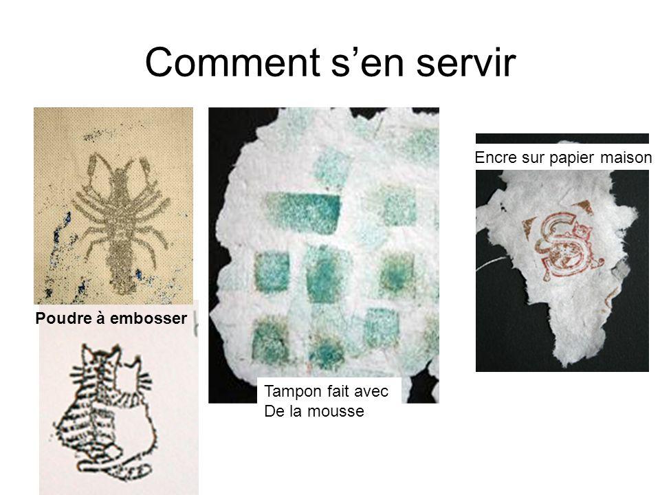 Comment sen servir Poudre à embosser Encre sur papier maison Tampon fait avec De la mousse