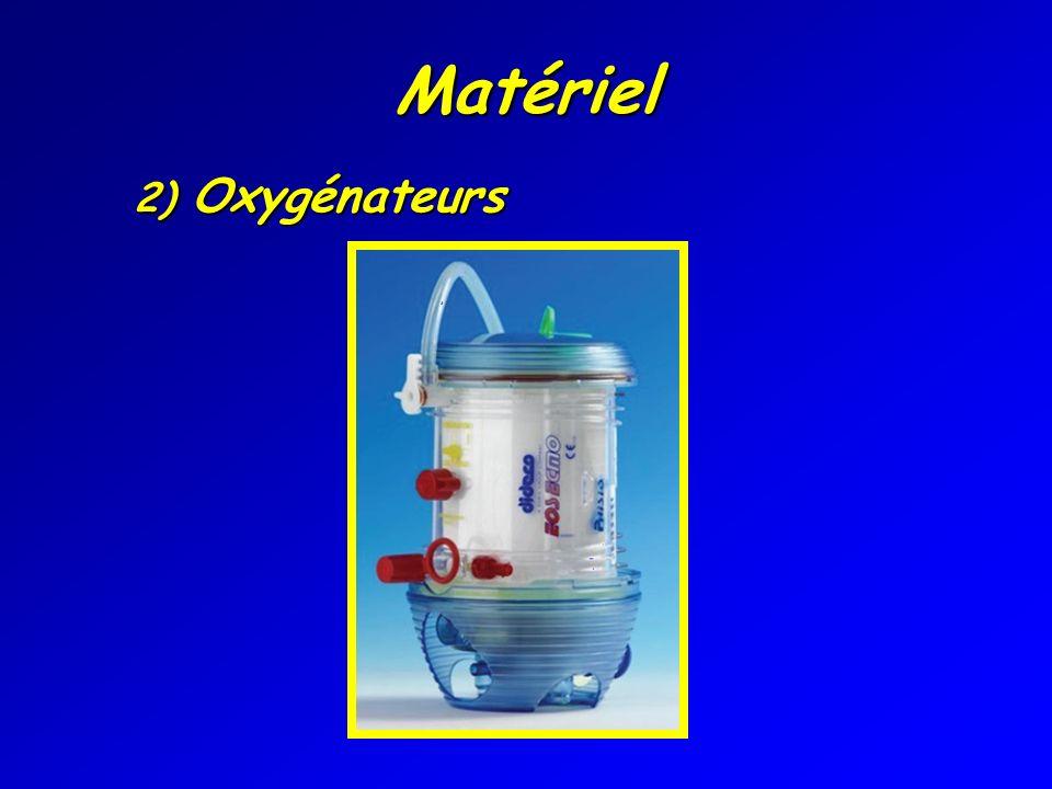 Matériel 2) Oxygénateurs 2) Oxygénateurs