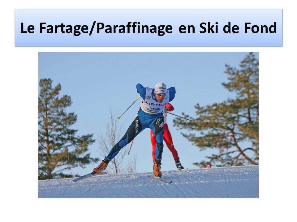 Le Fartage/Paraffinage en Ski de Fond