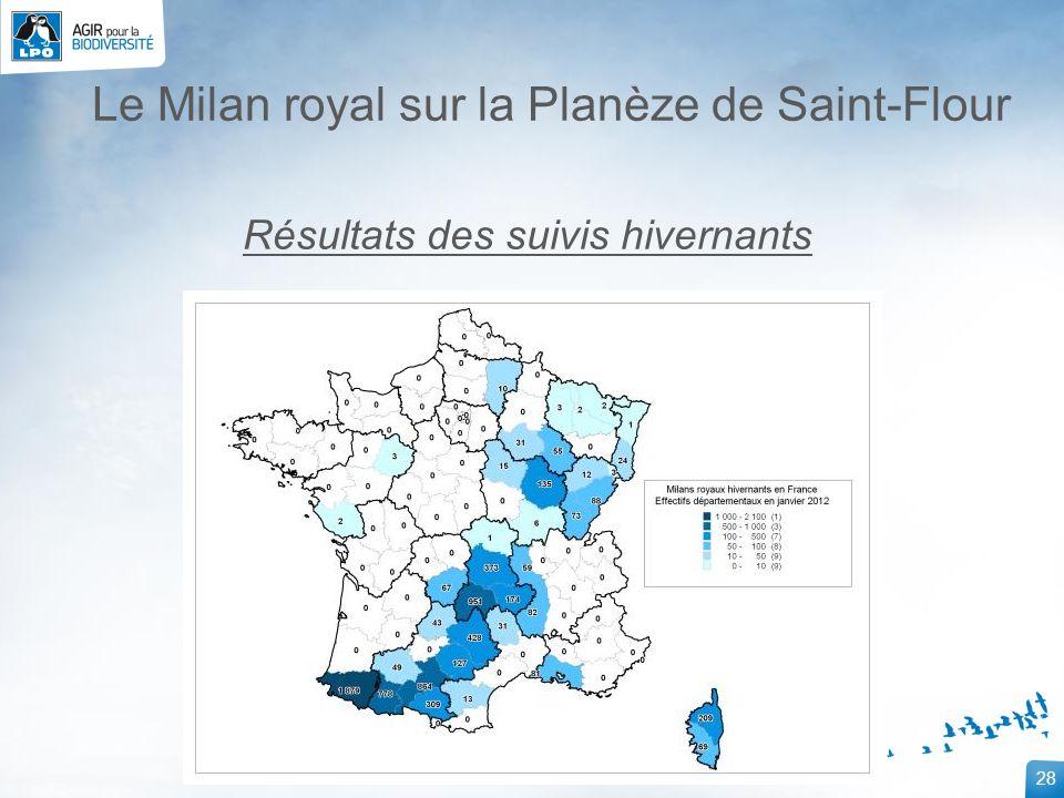 28 Le Milan royal sur la Planèze de Saint-Flour Résultats des suivis hivernants