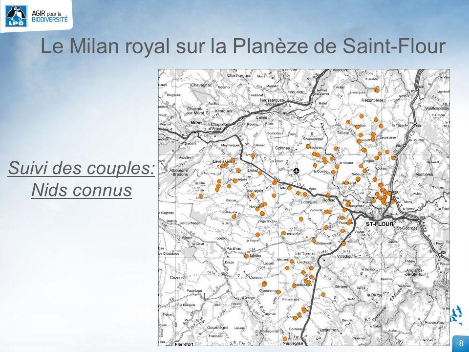 29 Le Milan royal sur la Planèze de Saint-Flour Résultats des suivis hivernants